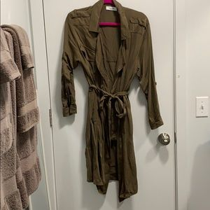 Military style belted duster/coat